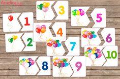 Учим цифры от 1 до 10, карточки, картинки, развивающие пазлы цифры для изучения счета с детьми 2,3,4,5,6 лет скачать бесплатно,цифры для ребенка распечатать