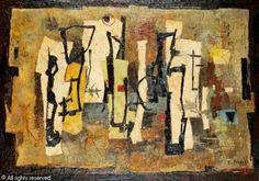 L'agent Préaux  Huile sur toile   Circa 1958