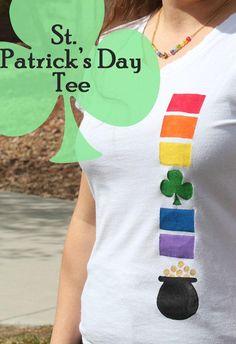 DIY Clothes : DIY St. Patricks Day Shirt