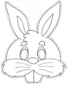 Rabbit Mask - free coloring pages Easter Activities, Easter Crafts For Kids, Diy For Kids, Bunny Mask, Animal Masks, Easter Printables, Easter Party, Free Coloring Pages, Coloring Books