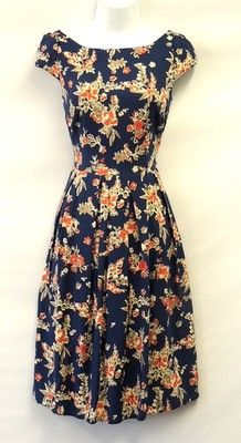 1940's floral tea dress
