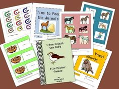 This printable book contains 10 file folder games. They make great independent work tasks for children with autism. They are designed to supplement the farm themed book, I Heard Said the Bird, by Polly Berrien Berends. It is not necessary to use the book with the games. They are based on common core skills for 2nd and 3rd grades.