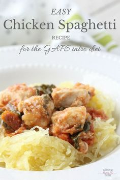 Easy Chicken Spaghetti Recipe for the GAPS Intro Diet | The Family That Heals Together
