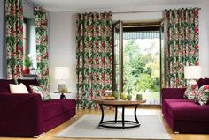 Džundľa v obývačke - kolekcia New Art    #zavesy#obyvacka#kvety Curtains, Urban, Home Decor, Natural Materials, Beautiful Homes, Asylum, Home Decor Accessories, Textiles, Homes