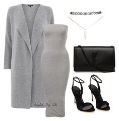"""""""Grey outfit"""" by alejandramatos on Polyvore featuring Warehouse, Yves Saint Laurent and Wet Seal"""