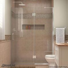 DreamLine Unidoor-X 48 in. to 48-1/2 in. x 72 in. Frameless Pivot Shower Door in Chrome-D1281472-01 - The Home Depot