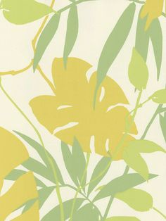 Gold Tropical Leaves Wallpaper