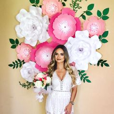 I love how these Paper Flowers was put so well together. My template client did an amazing job in making this Bridal Photoshoot Backdrop beyond amazing