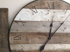 Large 3ft barn board clock by asinglesparrow on Etsy