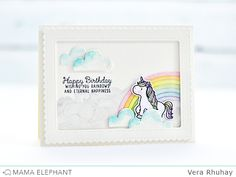 mama elephant | design blog: STAMP HIGHLIGHTS : UNICORNS AND RAINBOWS