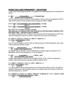 Combined Gas Law Worksheet Chart Answer Key Bined Gas Law Problems Worksheet Answers Briefenc Ideal Gas Law Worksheets Worksheet Template
