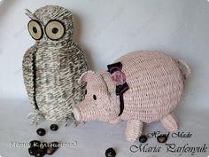 Поделка изделие Плетение Мой зоопарк и плетёнки Бумага газетная Картон Трубочки бумажные фото 1