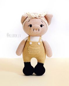Crochet Doll Pattern, Crochet Toys Patterns, Amigurumi Patterns, Stuffed Toys Patterns, Amigurumi Doll, Baby Patterns, Knitted Animals, Homemade Toys, Doll Tutorial