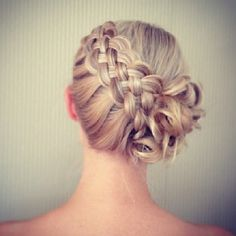 5 strand dutch braid+side bun #hairstyle #updo