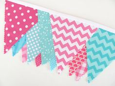 Girl's Bunting Banner Room Decor Birthday Party by OvationStudio, $30.00