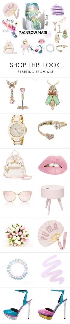 """""""Cry Me A Rainbow"""" by everything4love on Polyvore featuring beauty, Betsey Johnson, Bloomingville, Puma, Winky Lux and B Brian Atwood"""