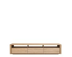 Ethnicraft© - Products » TV Cupboards »Oak Shadow TV cupboard - 3 drawers