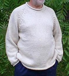 Free Knitting Pattern - Mens Sweaters: Chunky Mens Sweater