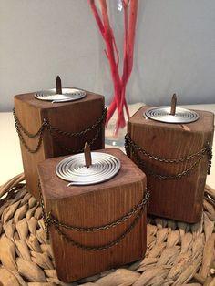 Dark wood candle holder Wooden candle holder Home decor Rustic decor Rustic wedding decor Rustic candle holder Candle holders Candle holder