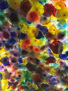 Dale Chihuli Glass Ceiling at Bellagio Hotel - Las Vegas - USA