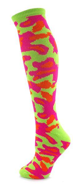 Camouflage All Sport Socks/ Neon