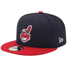 55a681b284b5 Sports Shop has Youth New Era Navy Red Cleveland Indians Authentic  Collection On-Field Home Fitted Hat plus easy flat rate shipping!