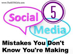 Common mistakes in social media