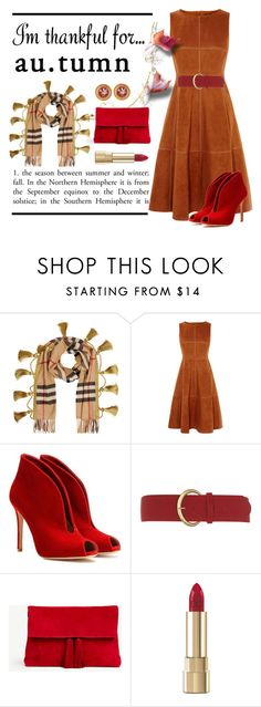"""I'm Thankful for Autumn"" by conch-lady ❤ liked on Polyvore featuring Burberry, Karen Millen, Gianvito Rossi, Dorothy Perkins, Ann Taylor, Dolce&Gabbana, autumn and imthankfulfor"