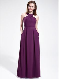 Bridesmaid Dresses - $135.99 - A-Line/Princess V-neck Floor-Length Chiffon Bridesmaid Dress  http://www.dressfirst.com/A-Line-Princess-V-Neck-Floor-Length-Chiffon-Bridesmaid-Dress-007025353-g25353