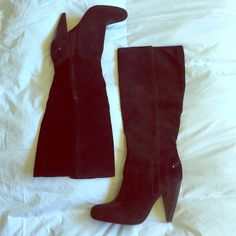 Jessica Simpson black Suede healed boots Jessica Simpson black healed suede boots. Like new. A couple unnoticeable scuffs here and there, other then that, they are in perfect condition. YKK zippers, leather upper, man made sole. Size 7.5 GORGEOUS! Jessica Simpson Shoes Heeled Boots