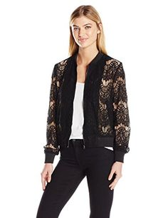 MINKPINK Women's Drama Queen Lace Bomber - http://www.darrenblogs.com/2017/01/minkpink-womens-drama-queen-lace-bomber/