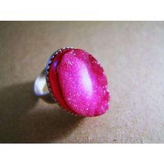 Pink Druzy quartz ring by jesophi on Etsy | ThisNext