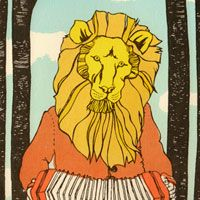A lion playing a concertina?? Yes please!
