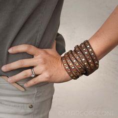 Tri-Band Triple Wrap Leather Bracelet, DARIO by Campomaggi | Marcopoloni
