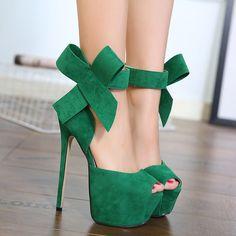 women sandals heels ankle strap heels women floral sandals green High Heels shoes bowknot pumps 2017 pumps wedding shoes X287 #sandalsheels2017 #sandalsheelsanklestrap