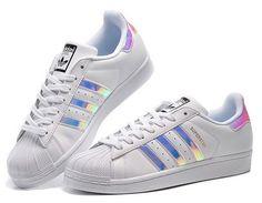 adidas originals superstar womens trainers iridescent
