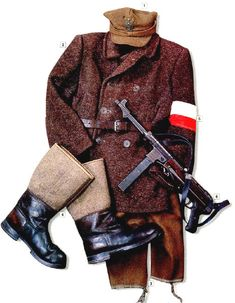 Military Uniform Partisan of the Peasant Battalions (Bataliony Chlopskie) Po. Military Uniform Partisan of the Peasant Battalions (Bataliony Chlopskie) Poland 1942 Source by ndmillett. Military Gear, Military Equipment, Military History, Military Army, Ww2 Uniforms, German Uniforms, Military Uniforms, Poland Ww2, Army Uniform