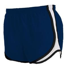 Navy Blue and White jersey white side stripe sport velocity shorts elastic waist $20.00
