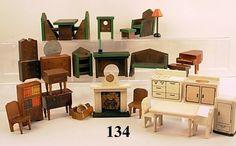 dollhouse furniture | 134: Vintage Dollhouse Furniture