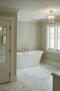 Very stark cold looking, but has potential. A lot of wasted space in tub area. bath by cameo homes inc Bathroom Renos, Bathroom Flooring, Bathroom Ideas, Bathrooms Decor, Washroom, Bathroom Design Inspiration, Home Decor Inspiration, Design Ideas, Home Inc
