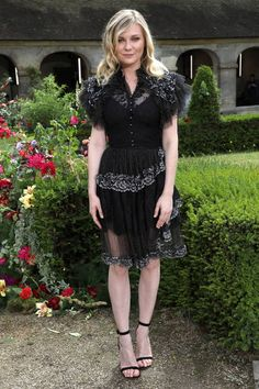Actress Kirsten Dunst attends the Rodarte Haute Couture Fall/Winter 20172018 show as part of Haute Couture Paris Fashion Week on July 2 2017 in Paris...