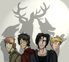 Moony, Prongs, Padfoot, and Wormtail.