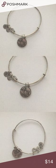 Team USA Alex and Ani Bracelet Some wear but still cute on Can likely be cleaned using Alex and Ani Care instructions Priced lower because of this Alex and Ani Jewelry Bracelets