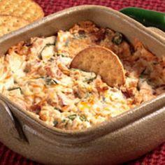 Cheddar, Jalapeno & Bacon Dip. Uses Cream Cheese, garlic powder & 1/4 cup of BEER!
