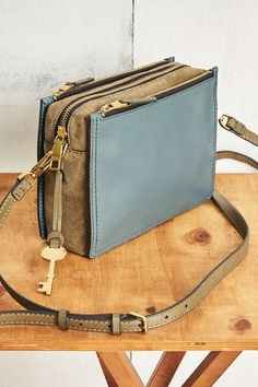 Our newest leather crossbody, the Campbell handbag.