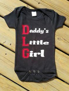 Daddy's Little Girl Newborn Onesie Bodysuit - Gift for Daddy - Baby Shower - by…