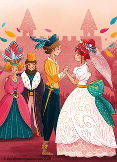 The Princess and the Pea - so pretty! Illustrations exclusive to Storytime Issue 12 by Florence Guittard (http://floelittlecloud.tumblr.com) ~ STORYTIMEMAGAZINE.COM