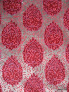 Indian Block Print Cotton/Silk.