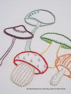 Looking for your next project? You're going to love Woodland Mushrooms by designer Kelly Fletcher.