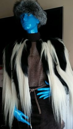 Vintage Long Hair Rare Colobus Monkey fur Cape Jacket Coat PERFECT